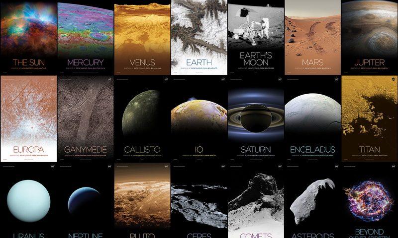 Εντυπωσιακά πόστερ για το ηλιακό σύστημα και πέρα από αυτό